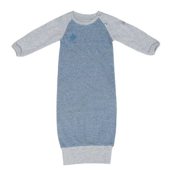 Juddlies Raglan Organic Nightie - Denim Blue