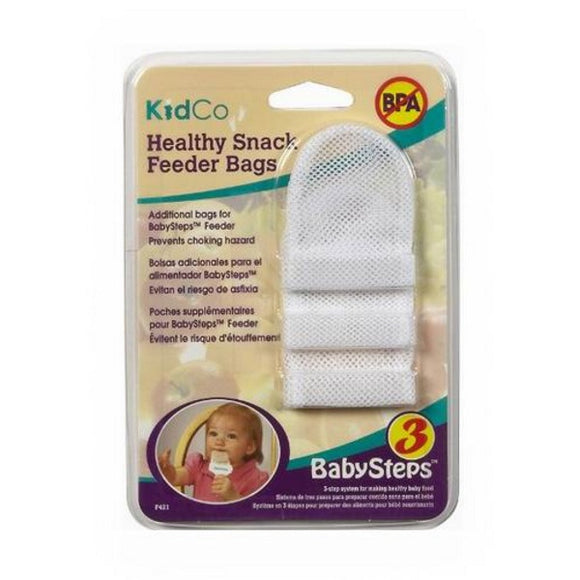 Kidco Healthy Snack Feeder Bags - 3 Replacement Bags