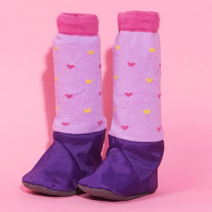 MimiTENS Booties Hearts Purple 0-6M