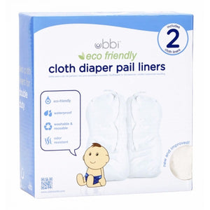 Ubbi Cloth Pail Liner 2 Pk