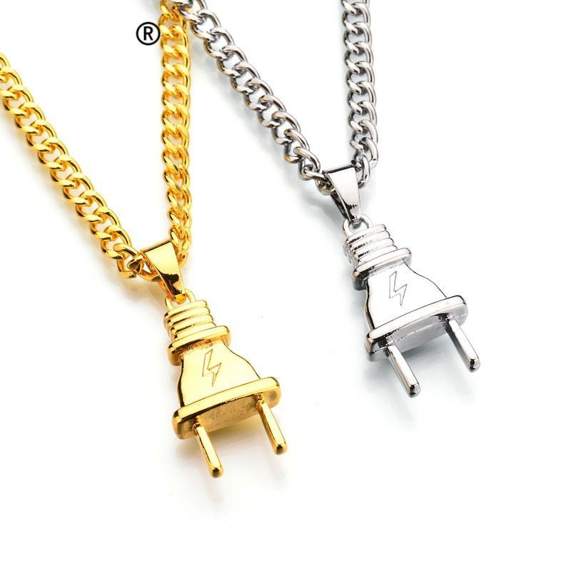 wholesale gifts women gold out men micro pendants dolphin chains plated cartoon charm jewelry rapper product iced bling silver necklaces bangles