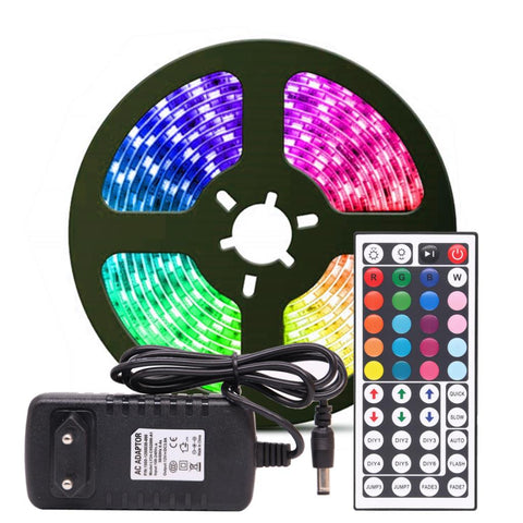 RGB LED StripRGB 5M 10M Tape Diode DC 12V Remote Control Adapter