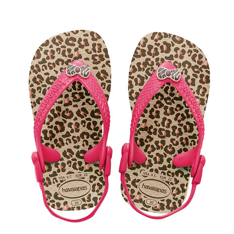 Havaianas Baby Chic Animals Sandal Flip Flop with Backstrap Sand Grey 4119596
