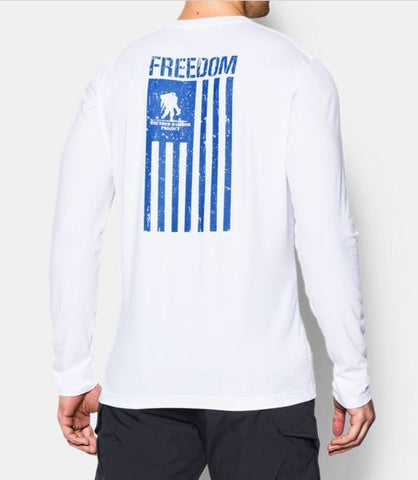 Under Armour 1268763 | Long Sleeve | WWP Freedom Flag | T-shirt White