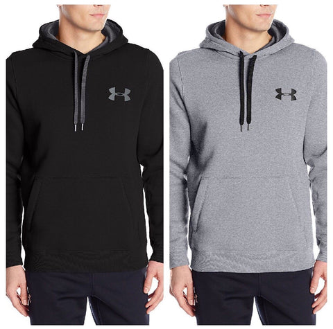 Under Armour 1248345 | Men's Fleece Hoodie | Black or Gray | Small