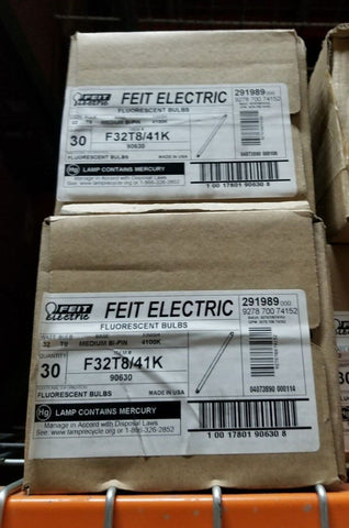 Feit Electric F32t841k 32w Fluorescent Bulb 48 T8  Pack Of 30