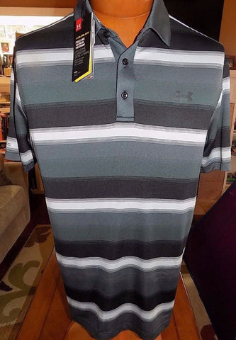 Under Armour 1265954 | Golf Men's Polo Shirt | Cold Black Stripe