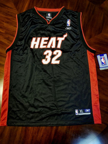 Shaquille O'Neal Sewn Reebok Authentic Miami Heat NBA Jersey Size 56 Shaq NWT