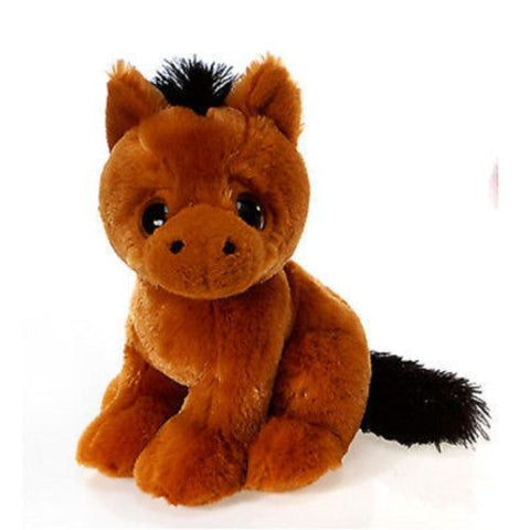 Hydra 9 inches Big Eyes Sitting Horse Plush