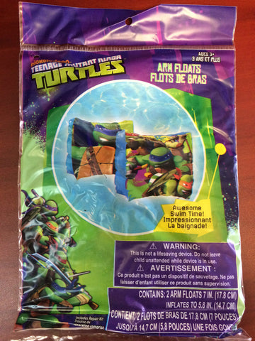 Teenage Mutant Ninja Turtles Arm Floats Fun Pool Beach