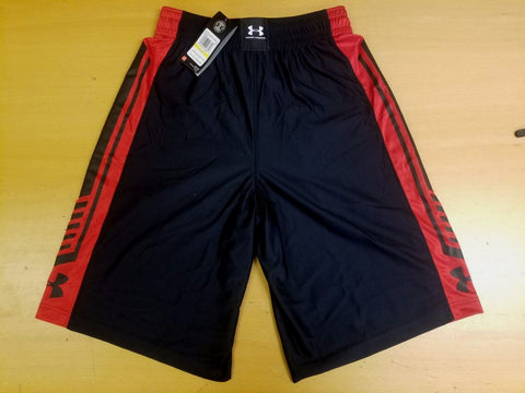Under Armour 1260242 | Basketball Shorts Men's Pant | Black and Red