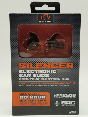 Walker's GWP-SLCR Game Ear In-Ear Razor Silencer Electronic Earbud Set