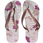 Havaianas Spring Sandals Toe Separator White / Gold Rose Womens Flops 4123230