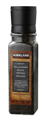 Kirkland Signature Tellicherry Black Pepper Grinder, 6.3 Ounce NEW