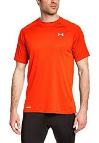 Under Armour 1262991 | Heat Gear® | Color Orange Men's Shirt Sleeve