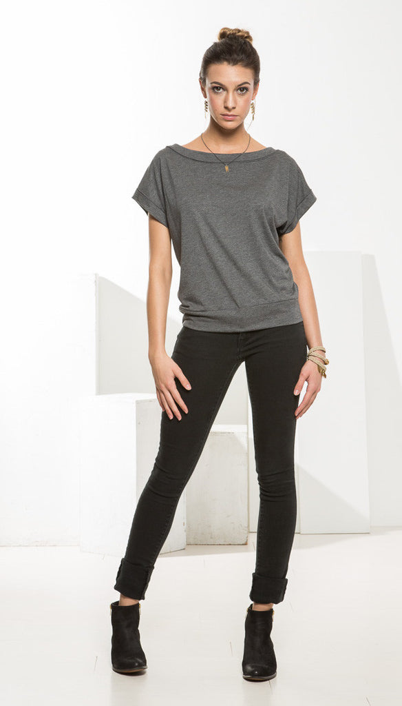 emmie top - grey
