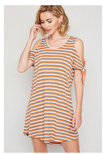 Knotted Sleeve Dress