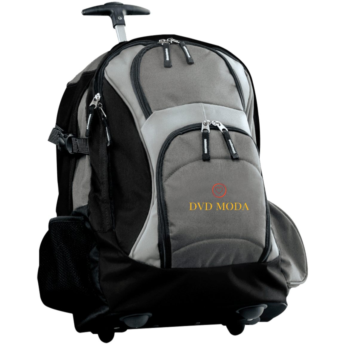 Wheeled Backpack dark grey black - DVD MODA