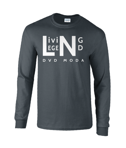Gildan Ultra Cotton® Long Sleeve T-Shirt LIVING LEGEND DVD MODA - DVD MODA