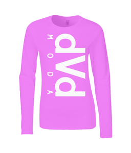 Gildan Ladies SoftStyle® Long Sleeve T-Shirt dvd MODA - DVD MODA