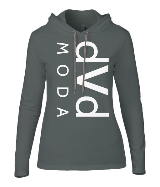 Anvil Ladies Fashion Basic Long Sleeve Hooded T-Shirt d v d MODA - DVD MODA