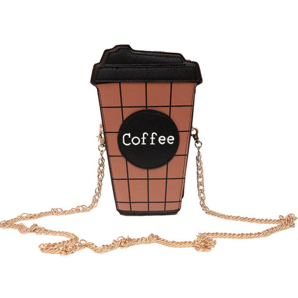 Women Shoulder Bag Coffee Cup Stly Leather crossbody bags for women Satchel Totes #LREL - DVD MODA