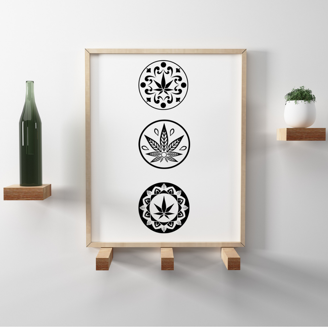 PRINTABLE ART + CANNABIS TRIO