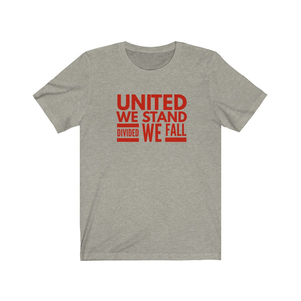T-SHIRT + UNITED WE STAND + RED