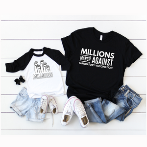 YOUTH + MILLIONS MARCH + BASEBALL TEE