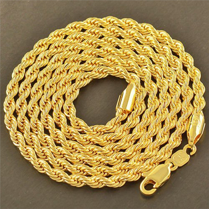 Swivel Style 24K Gold Plated Pendant Necklace