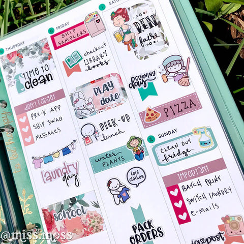 FREE PRINTABLE! A5 Week on 1 Page Weekly Template | Miss Moss Gifts