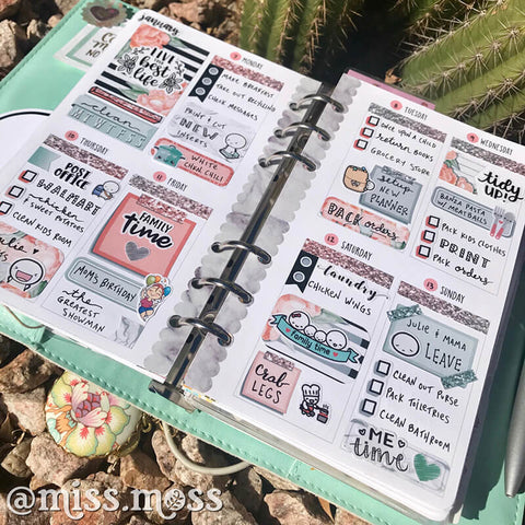 WEEKLY PLANNER SPREAD INSPIRATION, PERSONAL SIZE WO2P | MISS MOSS GIFTS
