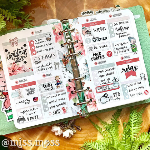 Weekly Planner Spread Inspiration, Week on 2 Pages A6 | Miss Moss Gifts
