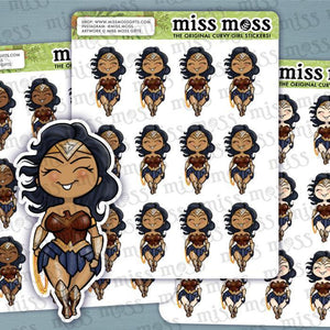 Warrior Woman Wonder Mom Stickers - Miss Moss Gifts