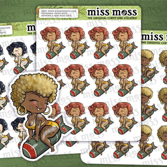 Droppin' F Bombs Planner Stickers - Miss Moss Gifts