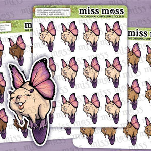 "Beavers w/ Wings ""Beaverfly"" Shaving Stickers - Miss Moss Gifts"