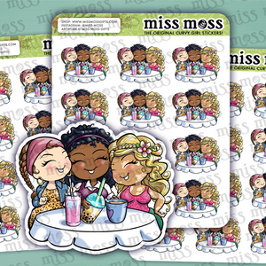 Mini BFFs Girl's Day Planner Stickers - Miss Moss Gifts