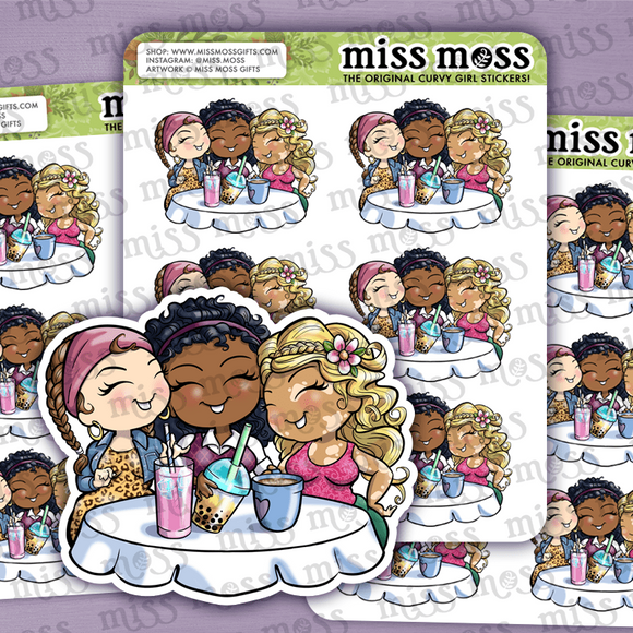 BFFs Girl's Day Planner Stickers - Miss Moss Gifts