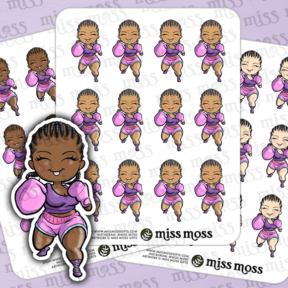 Boxing Chick Stickers - Miss Moss Gifts