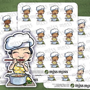 Chef Cooking Meal Prep Stickers - Miss Moss Gifts