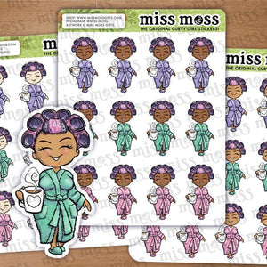 Coffee Drinker Lazy Day Planner Stickers - Miss Moss Gifts