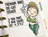 Die-Cuts - Braless No-Bra Curvy Girl Vinyl Decal Die-Cut