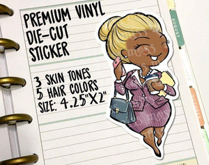 Business Woman Girl Boss Die-Cut Vinyl - Miss Moss Gifts