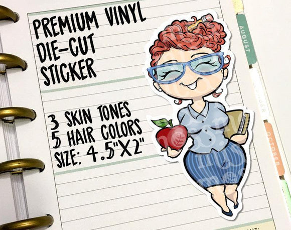 Teacher Principal School Die-Cut Vinyl Decal - Miss Moss Gifts