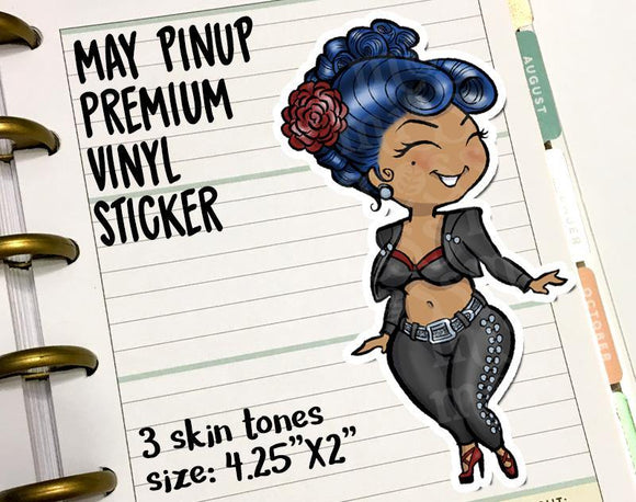 May Cinco de Mayo Pinup Curvy Girl Vinyl Decal Die-Cut