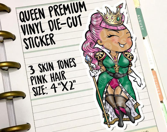 Curvy Queen Die-Cut Sticker Decal - Miss Moss Gifts