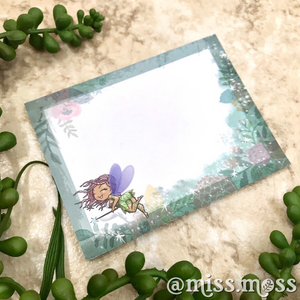 Curvy Fairy Sticky Notes - Miss Moss Gifts
