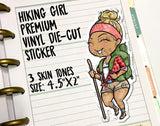 Large Hiking Girl Vinyl Die-Cut Decal - Miss Moss Gifts