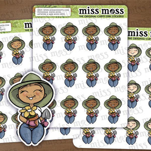 Gardening Plant Lover Stickers - Miss Moss Gifts