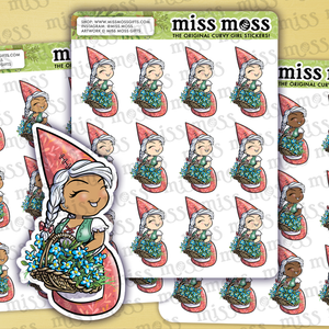 Gnome Girl Planner Stickers - Miss Moss Gifts